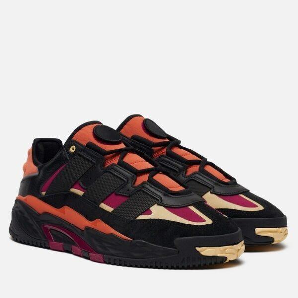 Adidas Niteball черно-оранжевые (40-44)