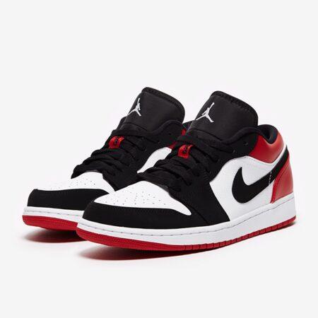 Nike Air Jordan 1 Low черно-белые-красные (40-44)