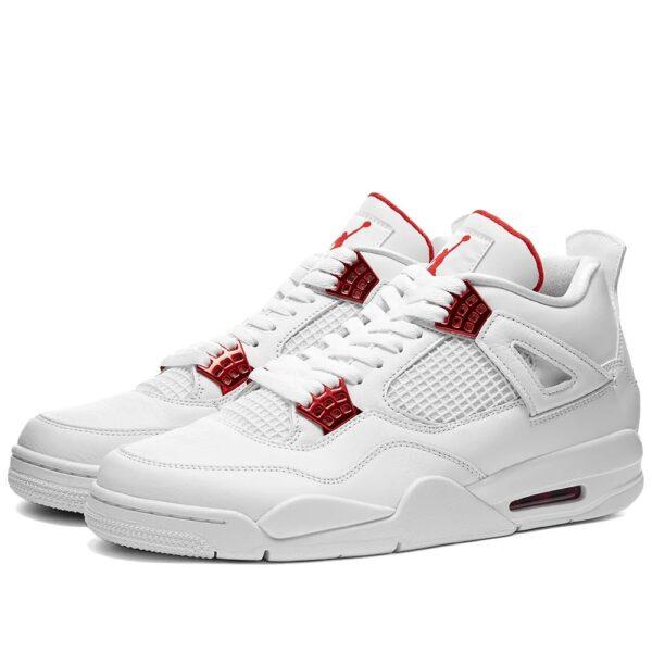 Nike Air Jordan 4 Metallic Red белые (35-39)