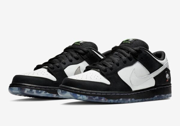 Nike SB Dunk Low Pro черно-белые кожа-нубук мужские (40-44)