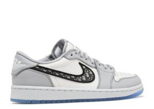Dior x Nike Air Jordan 1 Low бело-серые (40-44)
