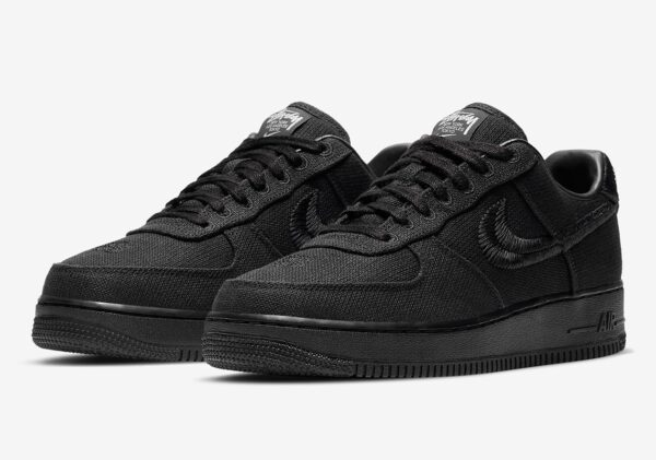 Stussy x Nike Air Force 1 Low черные мужские (40-44)